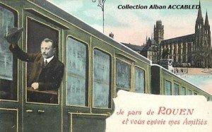Depart de Rouen en train